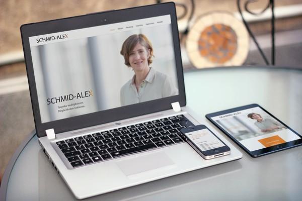 Webdesign für Sandra Schmid-Alex